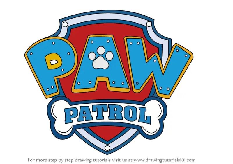Learn How to Draw Paw Patrol Badge (PAW Patrol) Step by