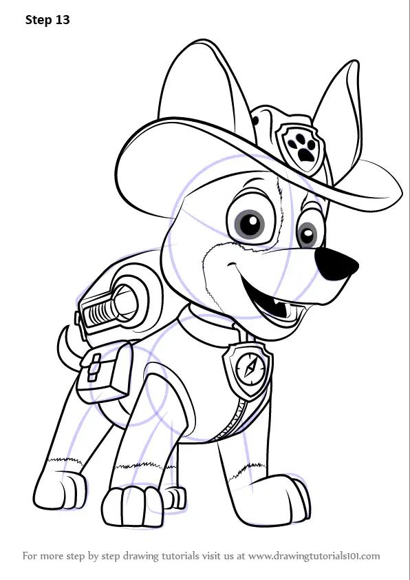 Paw Patrol Marshall Drawing