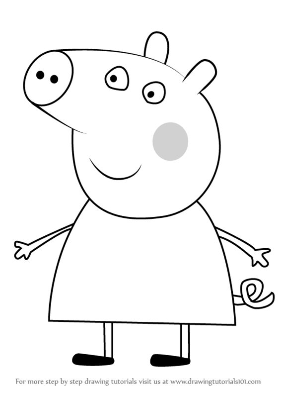 Newest For Drawing Drawing Tutorials Pictures Of Peppa Pig