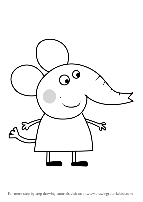 Learn How To Draw Daisy Dog From Peppa Pig Peppa Pig
