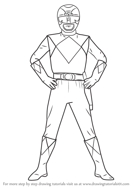 Learn How to Draw Black Ranger from Power Rangers (Power