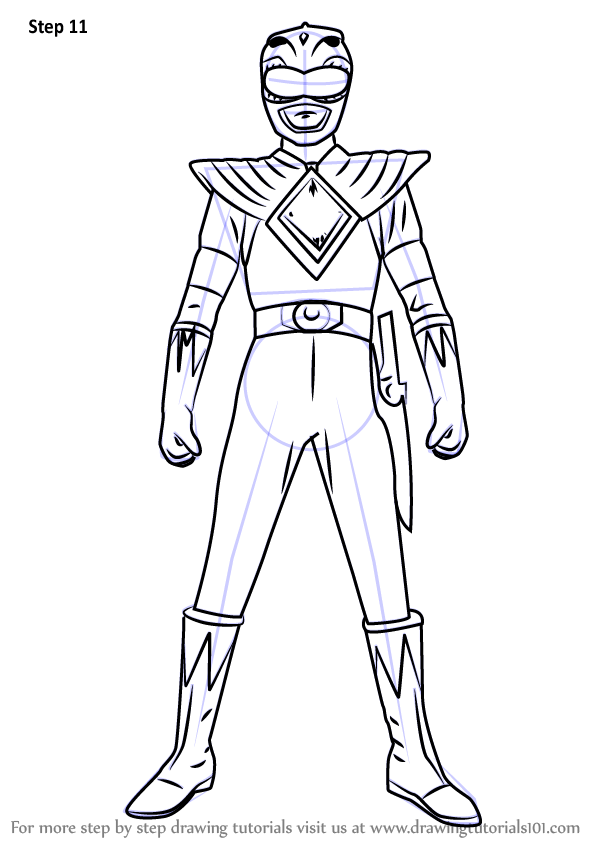 Learn How to Draw Green Ranger from Power Rangers Power