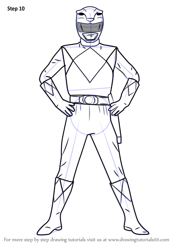 Learn How to Draw Yellow Ranger from Power Rangers (Power