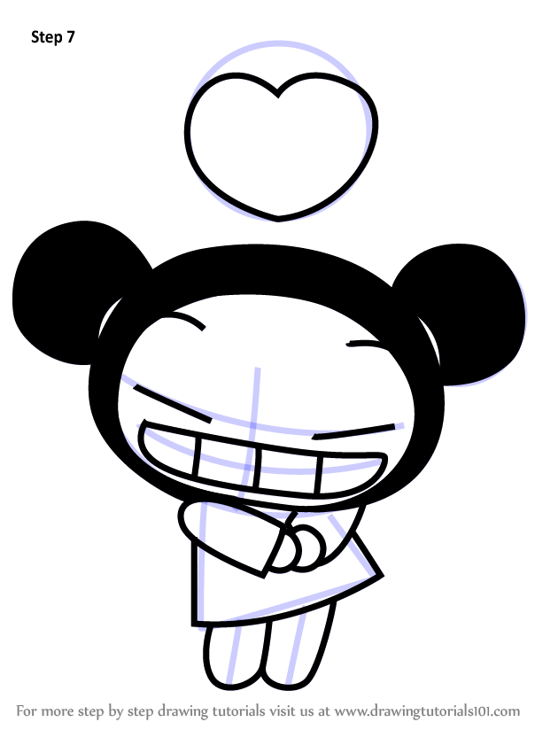 Learn how draw pucca love pucca pucca step, love printable coloring pages