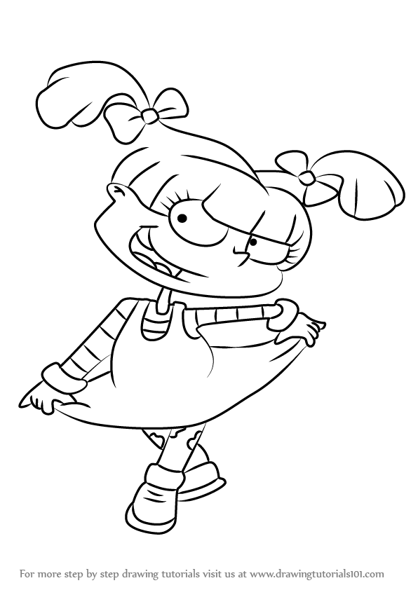 Learn How to Draw Angelica Pickles from Rugrats (Rugrats