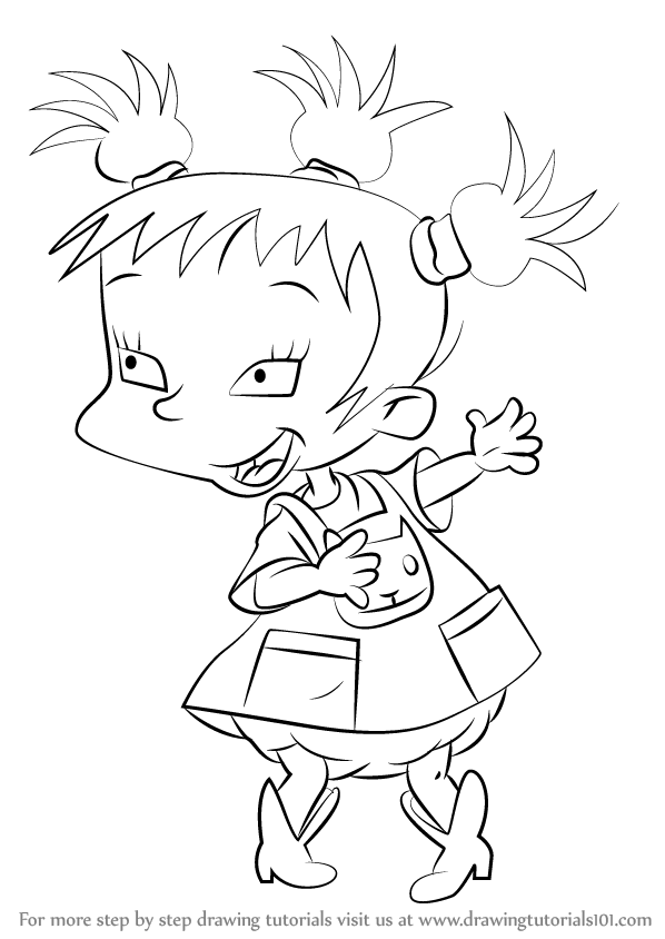 Learn How to Draw Kimi Finster from Rugrats (Rugrats) Step