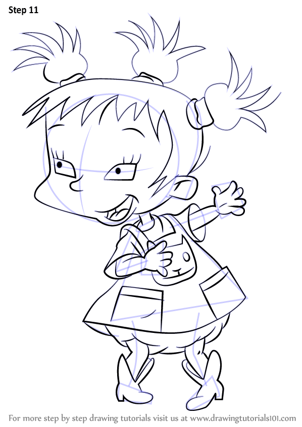 Step By Step How To Draw Kimi Finster From Rugrats