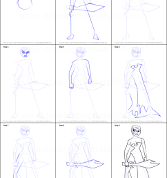 step by step drawing tutorial on how to draw ikra from samurai jack [ 751 x 1110 Pixel ]