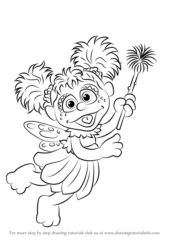 Learn How To Draw Abby Cadabby From Sesame Street Sesame