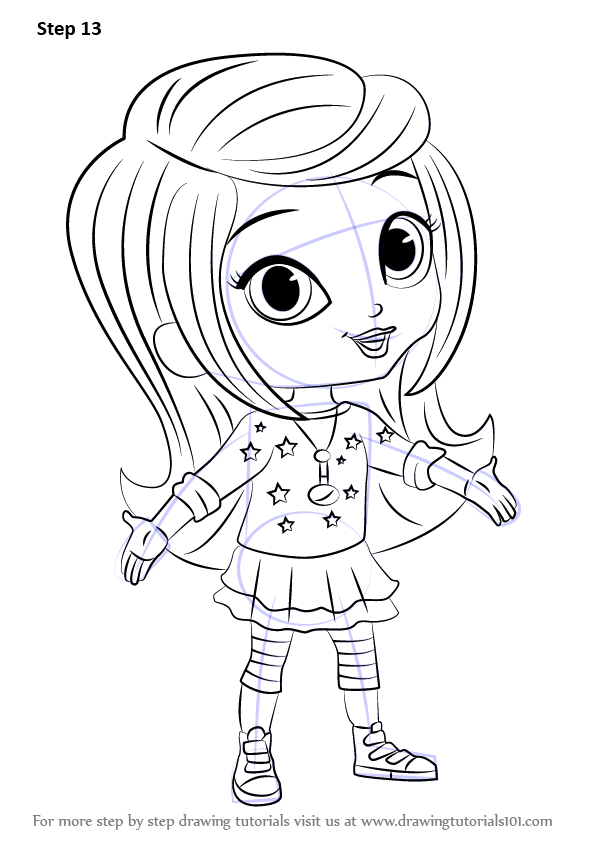 Learn How to Draw Leah from Shimmer and Shine (Shimmer and