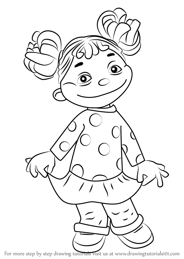 Learn How to Draw Gabriela from Sid the Science Kid (Sid