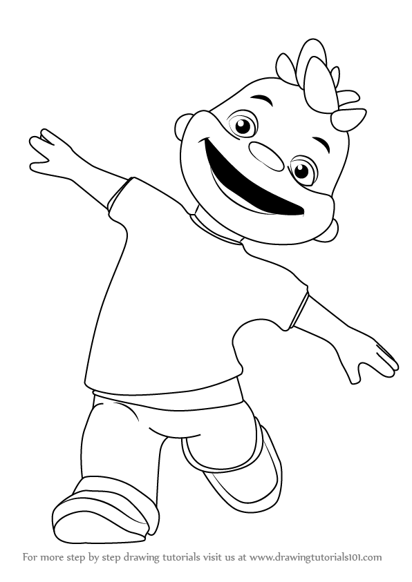 Step by Step How to Draw Gerald from Sid the Science Kid