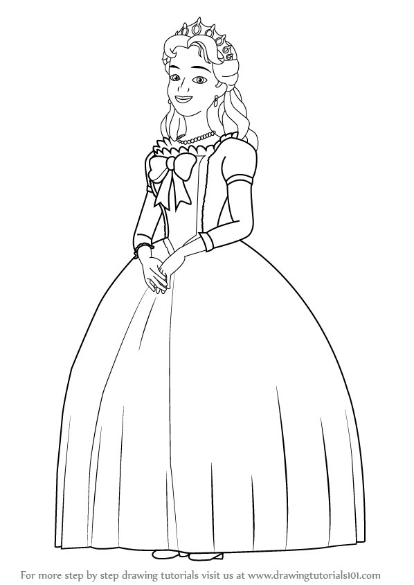 Learn How to Draw Queen Miranda from Sofia the First