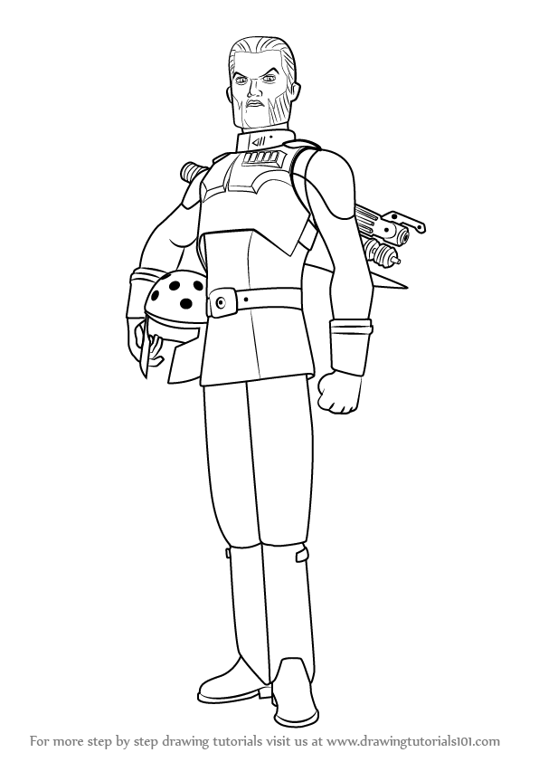Learn How to Draw Agent Kallus from Star Wars Rebels (Star