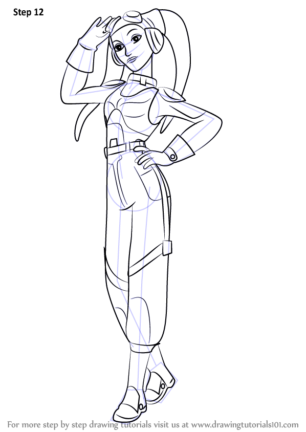 Learn How to Draw Hera Syndulla from Star Wars Rebels