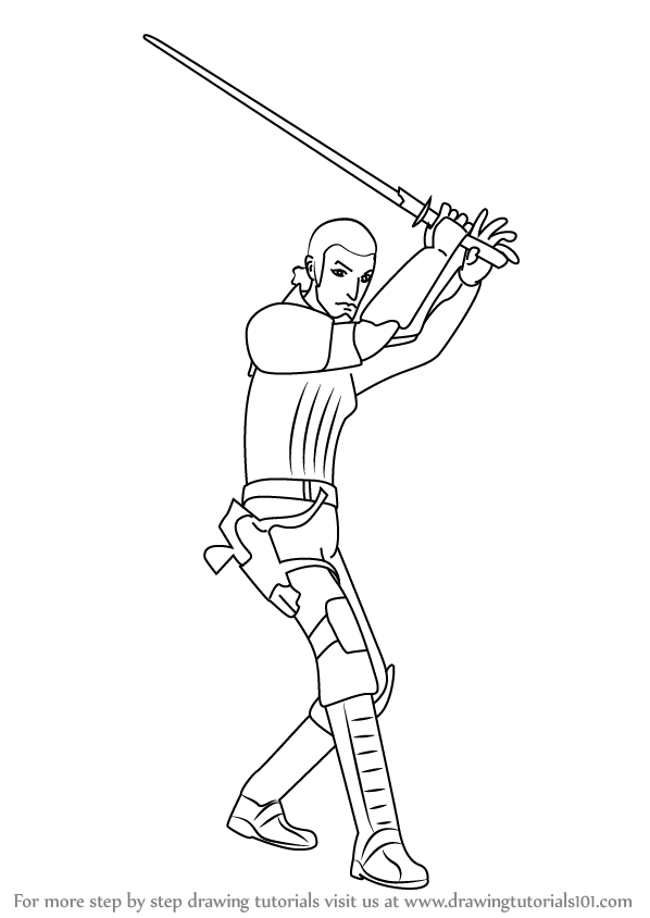 Learn How to Draw Kanan Jarrus from Star Wars Rebels (Star