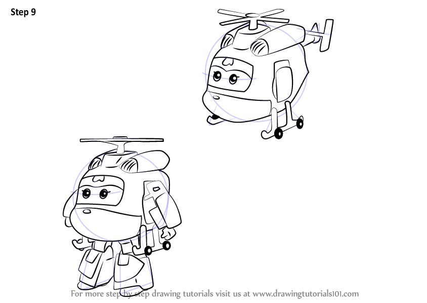 Learn How To Draw Dizzy From Super Wings Super Wings