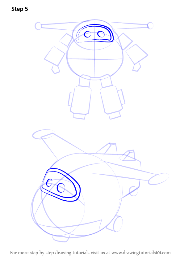 Learn How To Draw Jett From Super Wings Super Wings Step