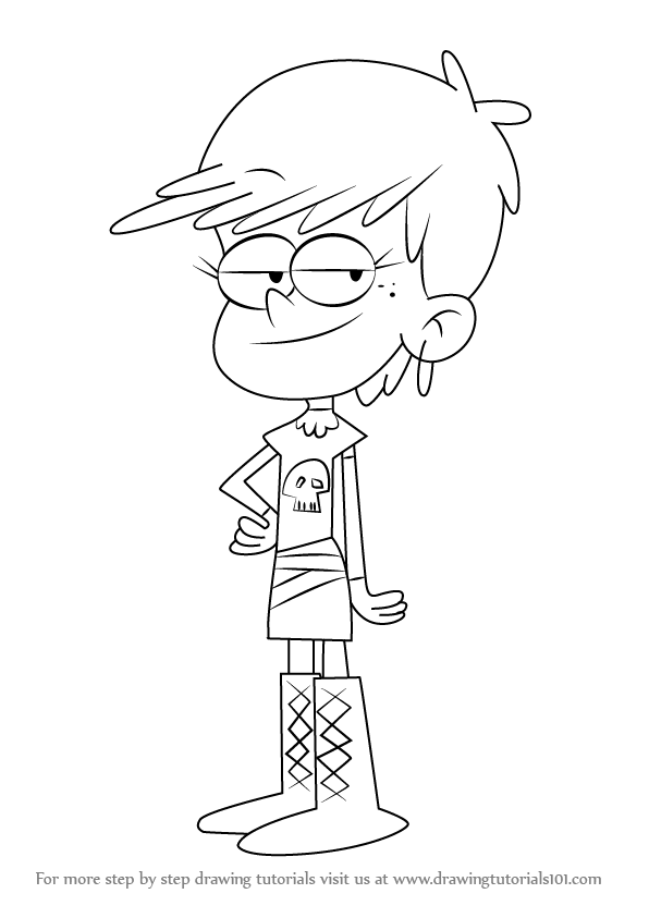 Learn How to Draw Luna Loud from The Loud House (The Loud