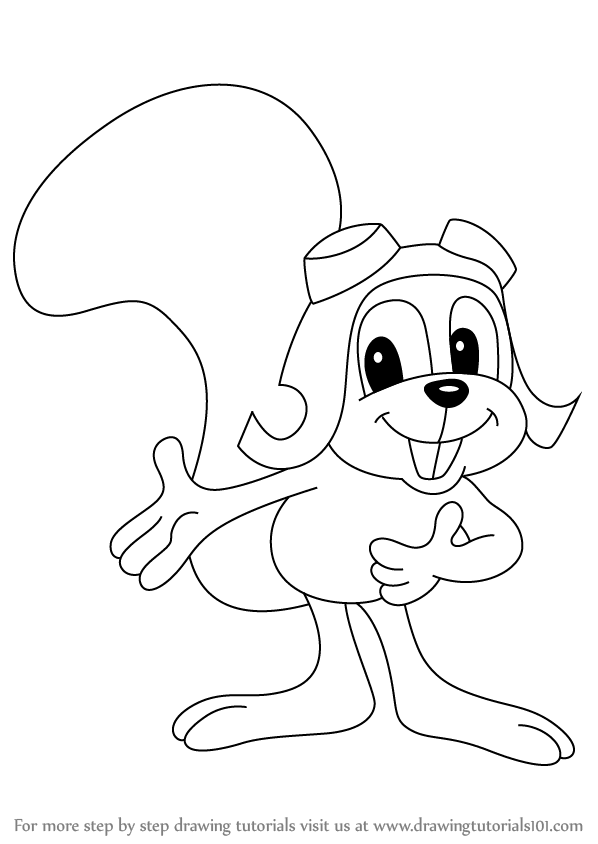 Learn How to Draw Rocky from The Rocky and Bullwinkle Show