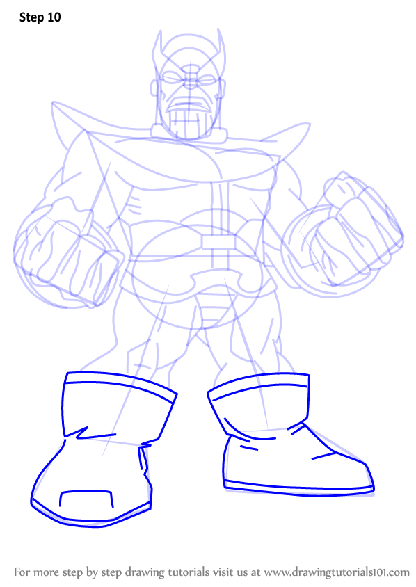 Learn How To Draw Thanos From The Super Hero Squad Show