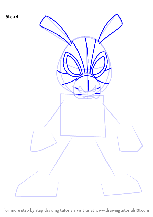 Step By Step How To Draw Spider Ham From Ultimate Spider