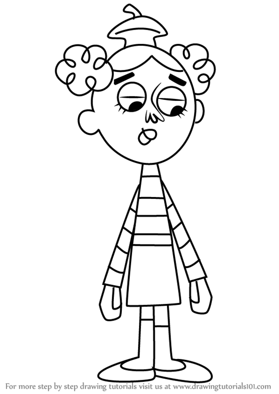 Learn How to Draw Bebe Gunn from Wayside (Wayside) Step by