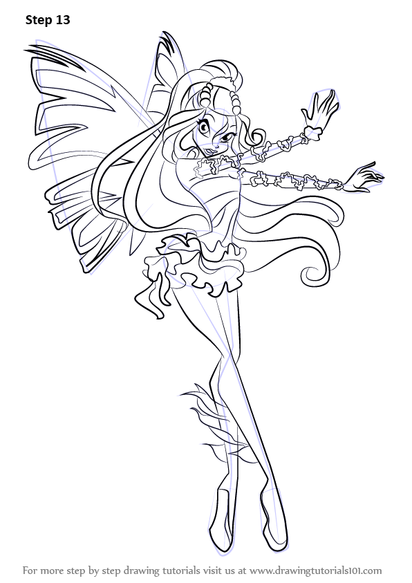 Learn How to Draw Daphne from Winx Club (Winx Club) Step