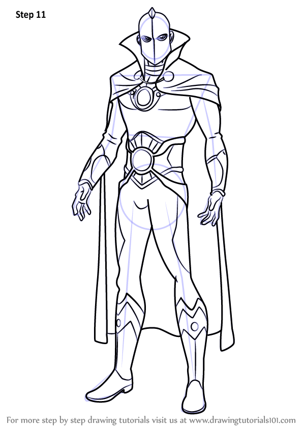 Learn How to Draw Doctor Fate (DC Comics) Step by Step