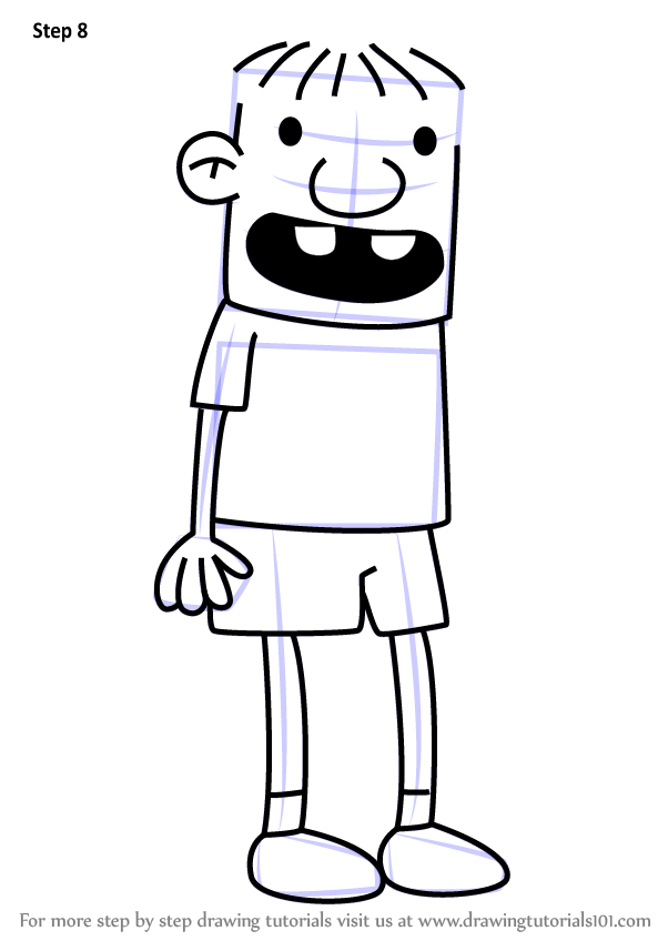 Learn How to Draw Rowley Jefferson from Diary of a Wimpy