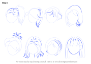 learn draw anime hair