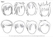 learn draw anime hair