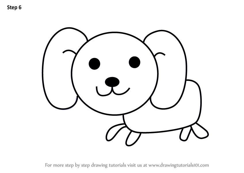 Learn How To Draw A Dog For Kids Animals For Kids Step By Step Drawing Tutorials