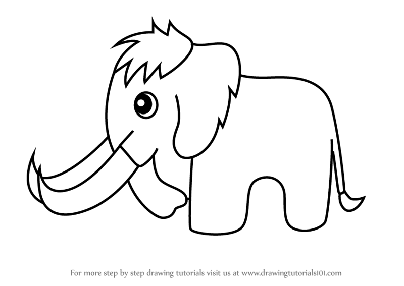 Learn How to Draw a Woolly Mammoth for Kids (Animals for