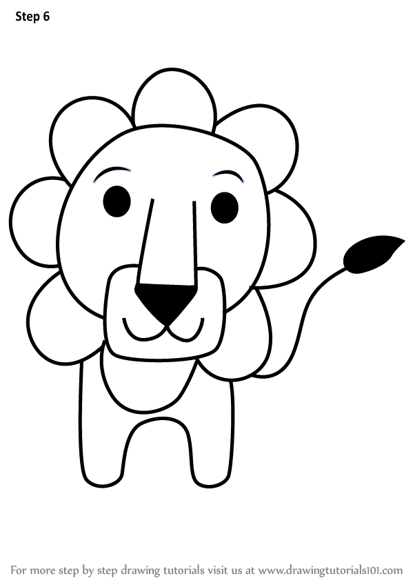 Learn How to Draw a Lion from Letter L (Animals with