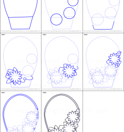 how to draw flowers basket for kids printable step by step drawing sheet drawingtutorials101 com [ 751 x 1107 Pixel ]