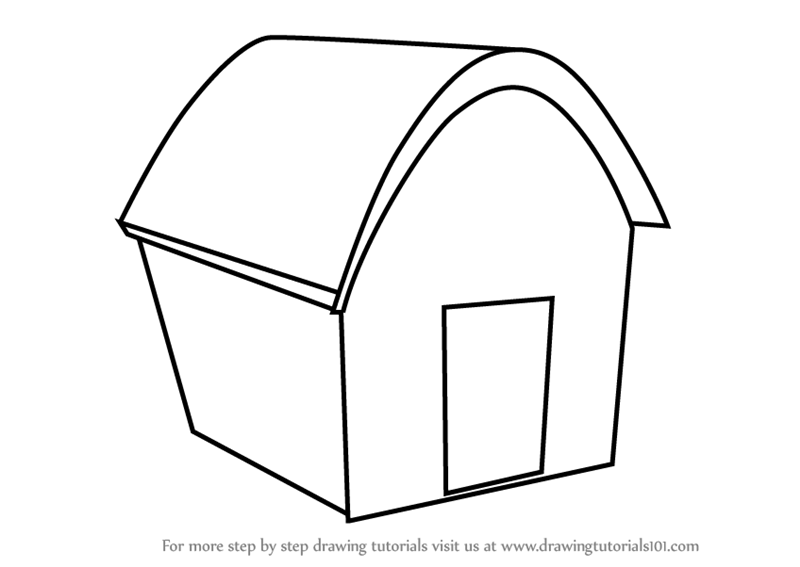 Learn How to Draw House Easy (Objects) Step by Step