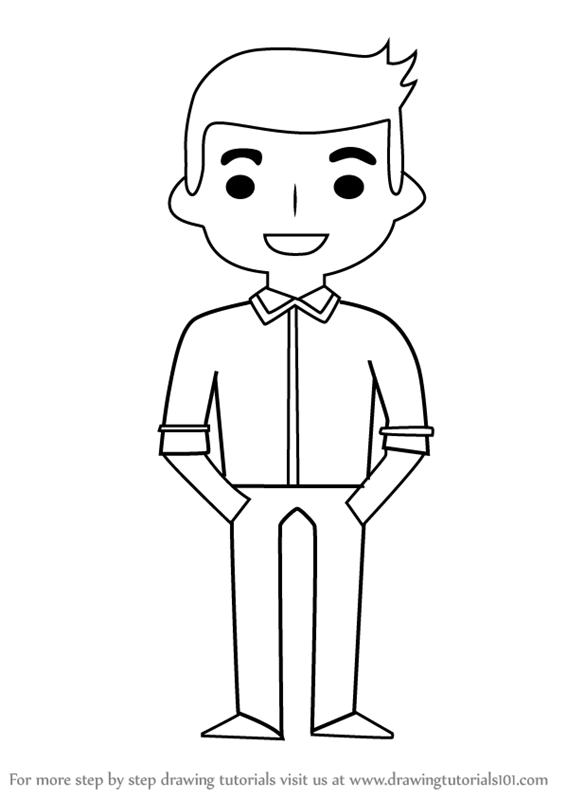 Learn How to Draw Standing Boy for Kids (People for Kids