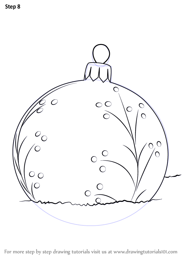Learn How To Draw A Christmas Bauble Christmas Step By