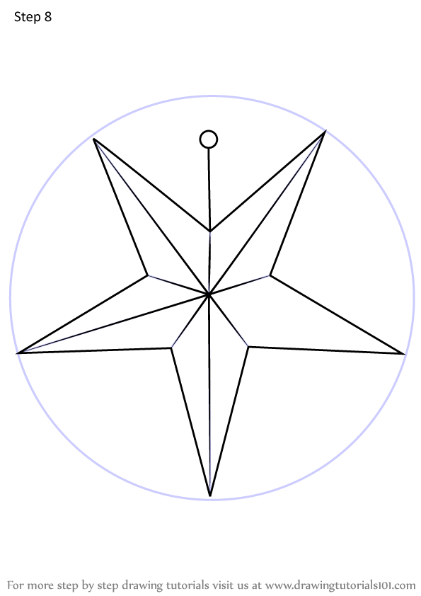 Learn How to Draw Christmas Star (Christmas) Step by Step