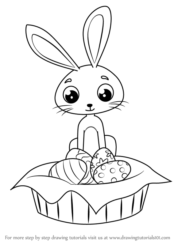 Easter Bunny Drawing How To Draw An Easter Bunny Wzclbge