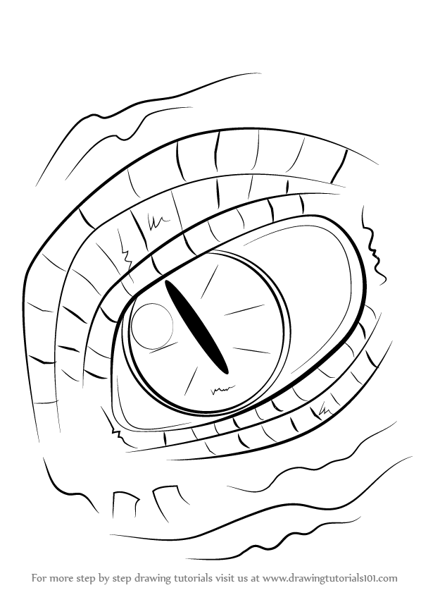 Learn How to Draw Dragon Eyes (Dragons) Step by Step