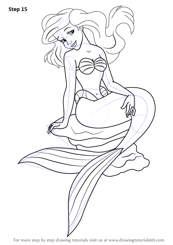 Learn How to Draw a Mermaid Sitting on a Rock (Mermaids