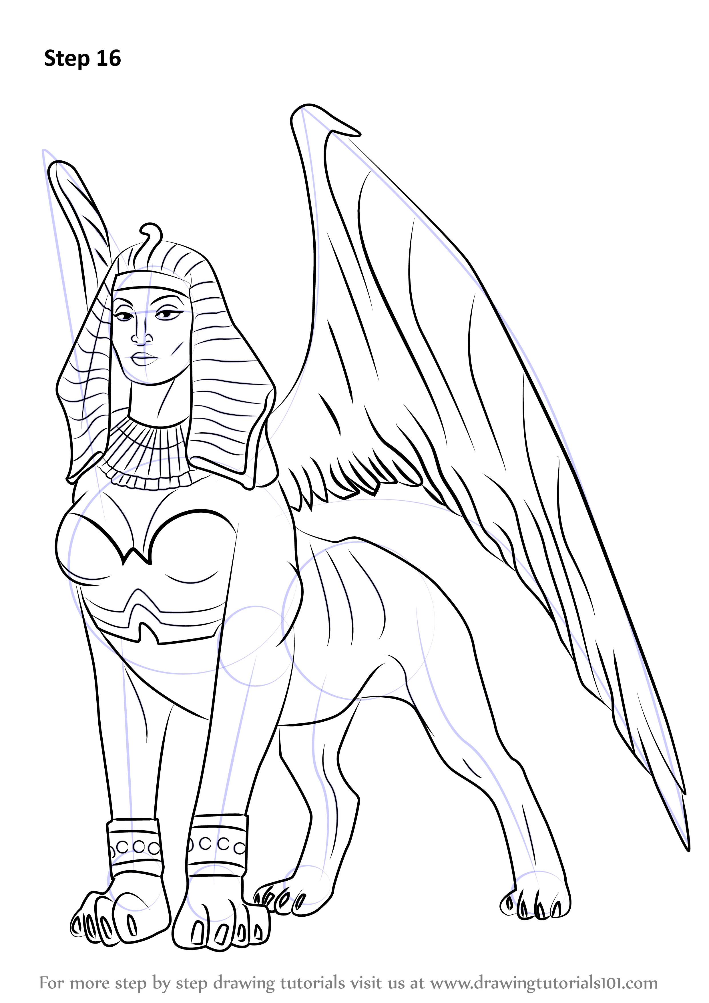 Learn How To Draw A Sphinx Other Creatures Step By Step