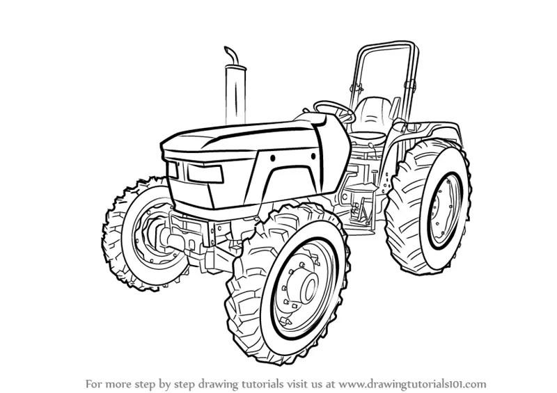 Kleurplaat Trekker Case Kleurplaat Tractor Kleurplaten