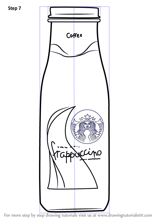 Learn How to Draw Bottled Frappuccino (Everyday Objects
