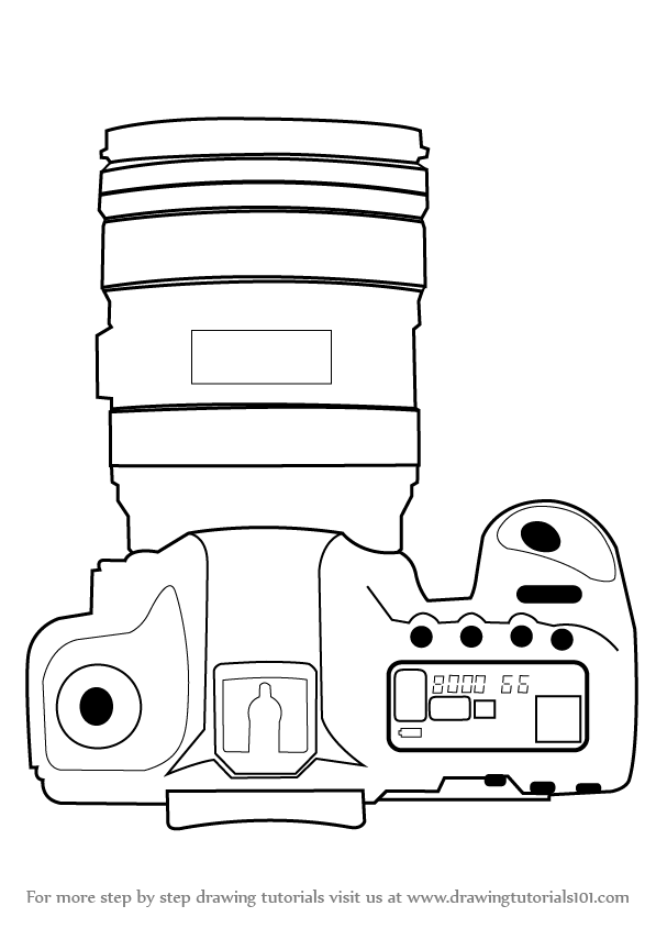 Learn How to Draw a Camera with Lens (Everyday Objects