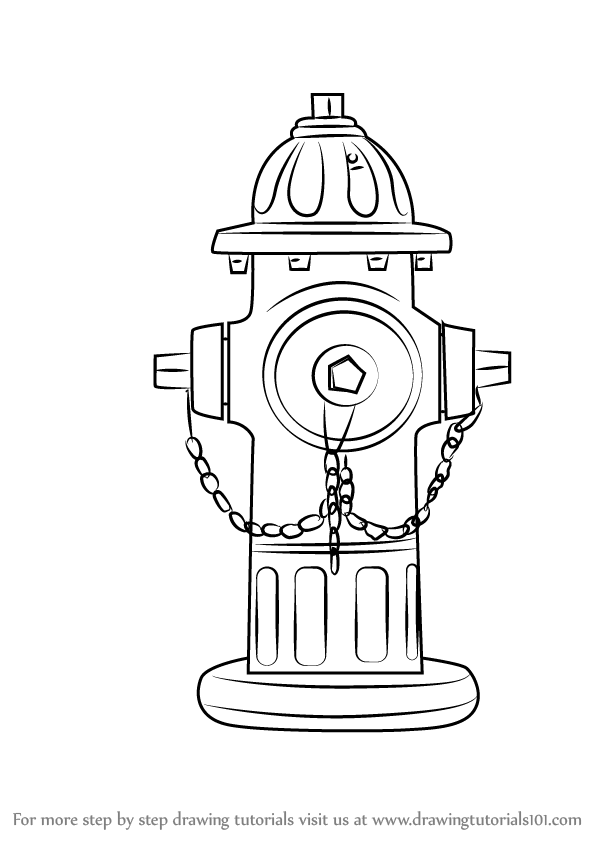 Learn How to Draw Fire Hydrant (Everyday Objects) Step by