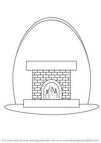 Learn How to Draw a Fireplace (Everyday Objects) Step by ...
