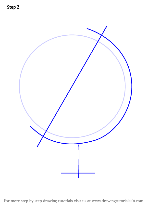 Learn How to Draw a Globe on a Ball Everyday Objects Step by Step  Drawing Tutorials